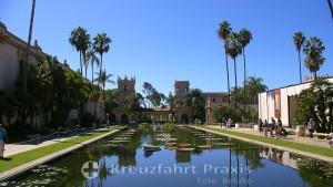 Balboa Park - The Lily Pond mit Casa de Balboa