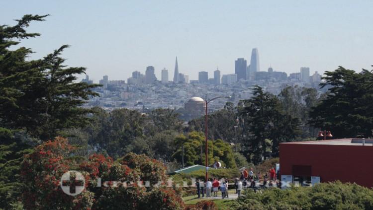 San Francisco - Panorama von der Golden Gate Bridge gesehen