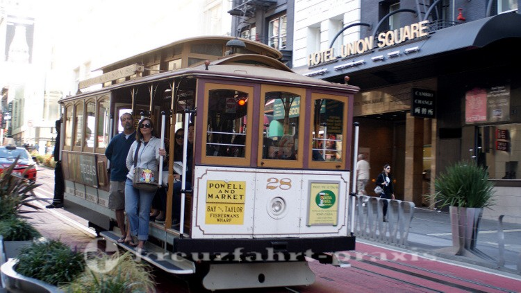 Powell Street - Cable Car in Aktion