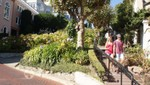Passanten in der Lombard Street