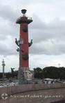 Eine der beiden Rostra-Säulen
