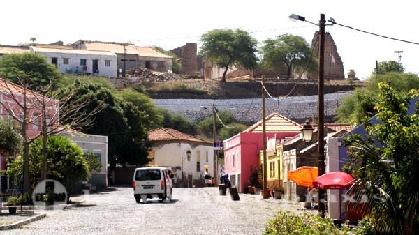 Kapverden - Straßenszene in Cidade Velha