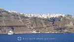 Santorini - cruise ships in front of Fira