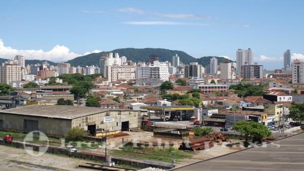 Die Hochhauskulisse von Santos