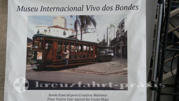 Santos - Bonde Turistico - Werbeplakat