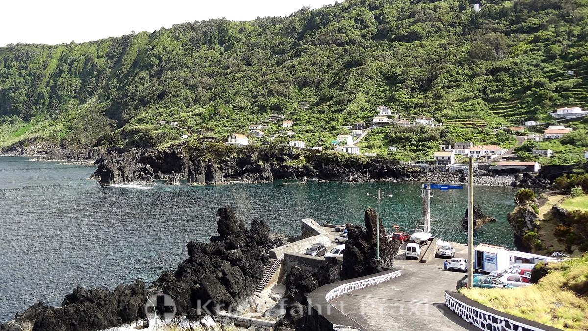 Fajã do Ouvidor - the port