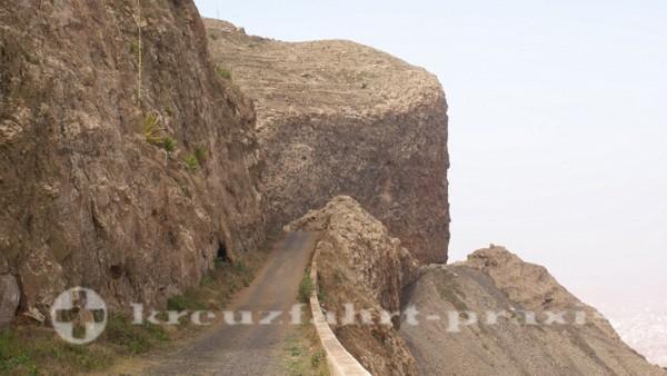 Sao Vicente - Auffahrt zum Monte Verde