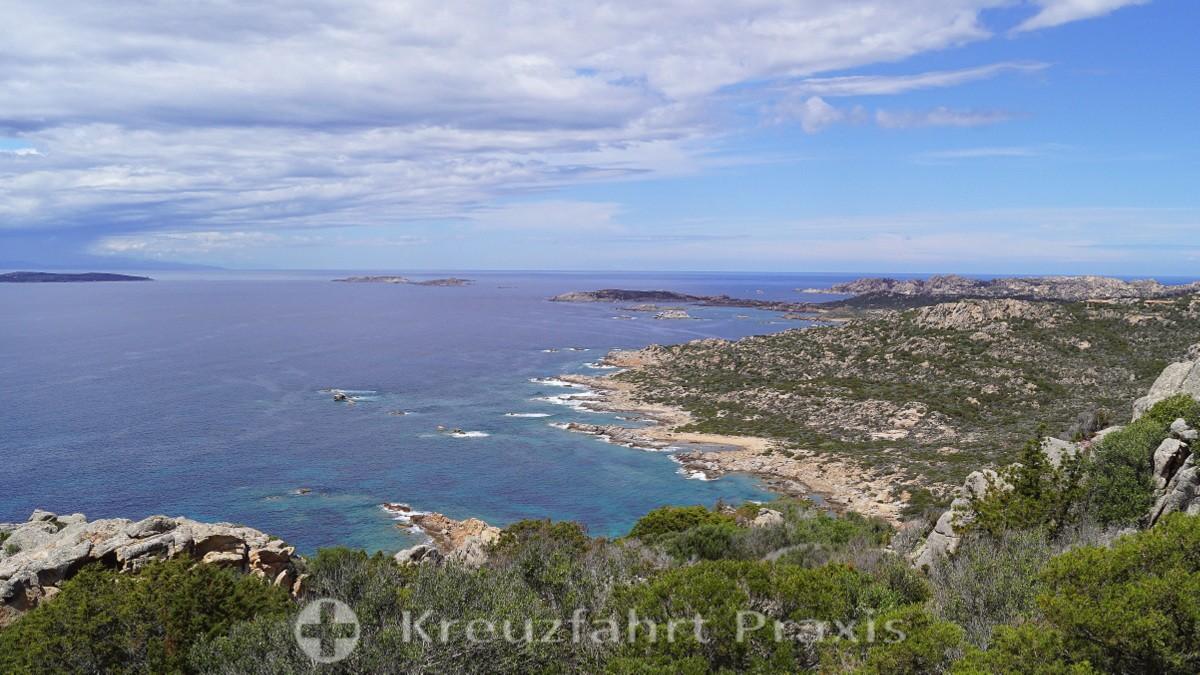 La Maddalenas wilde Küste