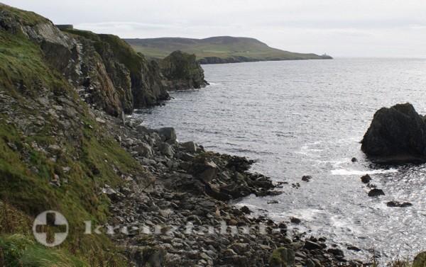 Shetlands Küstenlinie