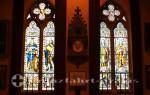 Glasfenster im Rathaus von Lerwick