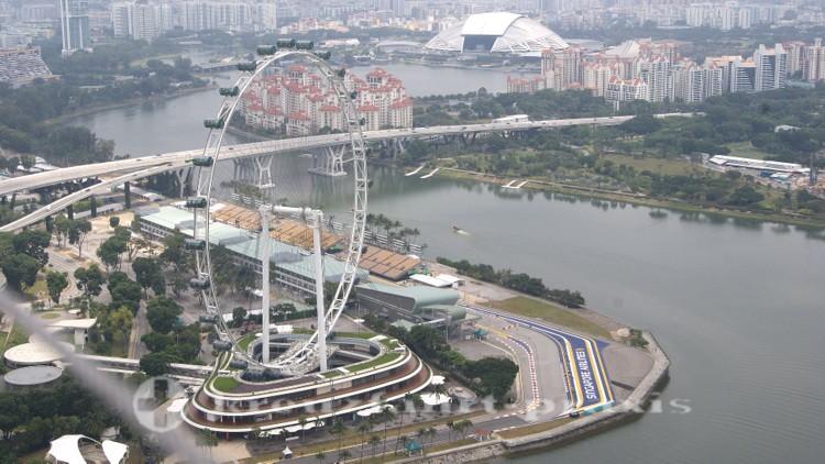 Singapore Flyer und Formel 1 Rennstrecke