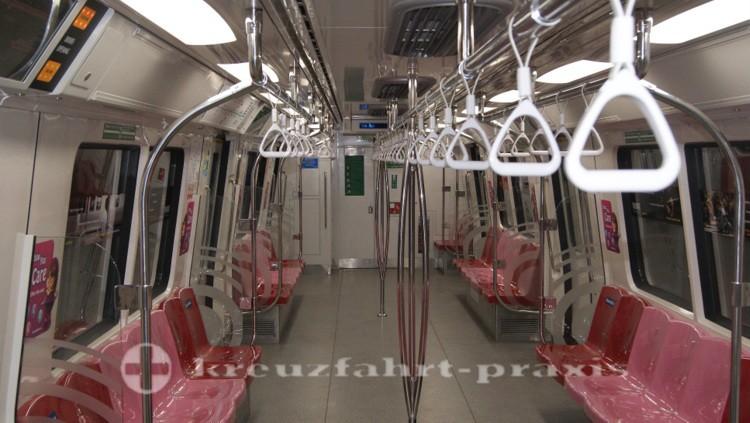 Singapurs penibel saubere U-Bahn-Wagen