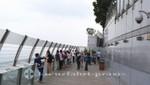 Das Aussichtsdeck des Marina Bay Sands Hotels