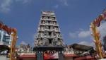 Der Sri Mariamman Tempel in Chinatown