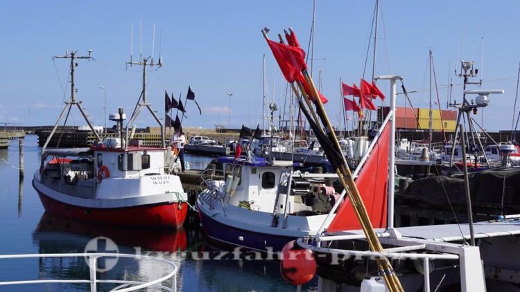 Fscherboote in Skagens Hafen