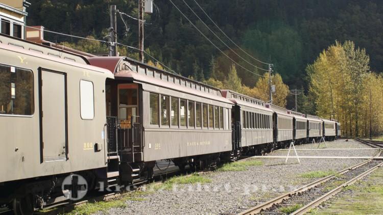 Historische Eisenbahnwagen
