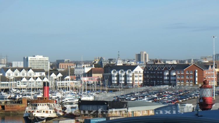 Southampton - Blick auf Hafen und Stadt
