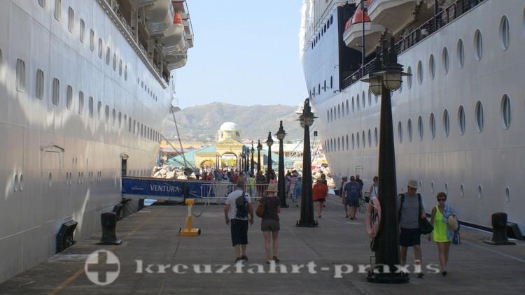 St. Kitts - Basseterre - Kreuzfahrtschiffe in Port Zante