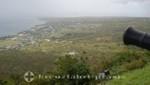 St. Kitts - Brimstone Hill Fortress - Blick nach Westen