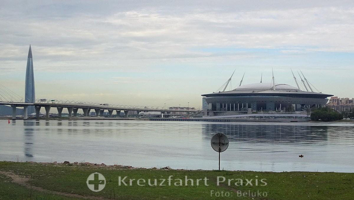 Saint Petersburg - Gazprom Tower and Gazprom Arena