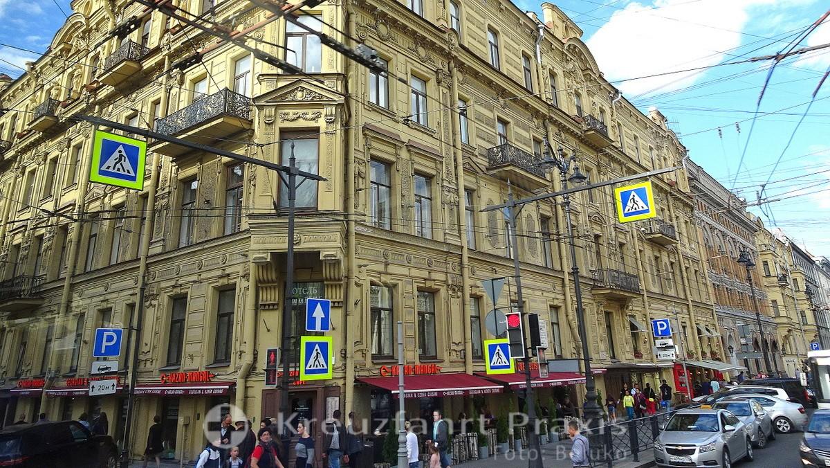 In the center of Saint Petersburg