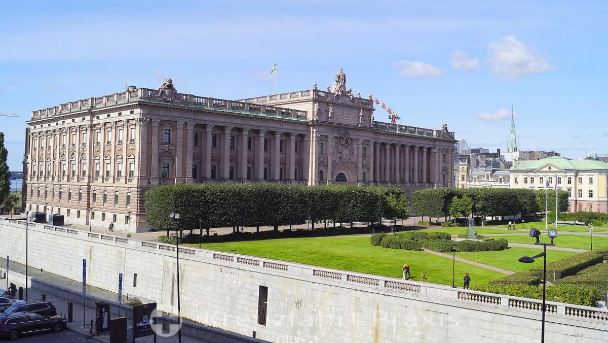 Stockholm - Reichstag and Riksplan