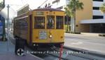 Tampa - Historische Straßenbahn mit Ziel Ybor City