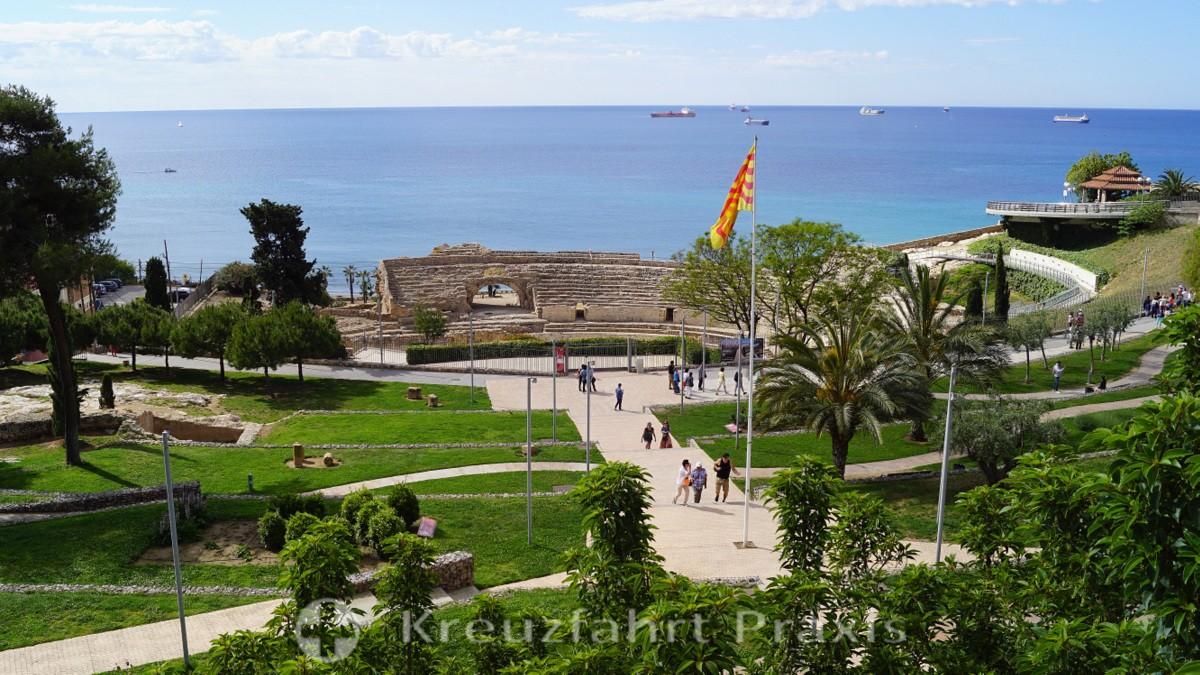Haltepunkt des Portbusses - Parc de l'Amfiteatre