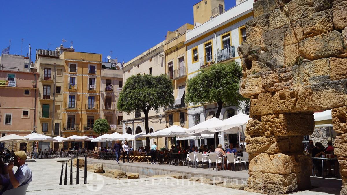 Plaça del Forum - Reste antiker Mauern