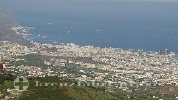Teneriffa - Santa Cruz de Tenerife aus der Vogelperspektive
