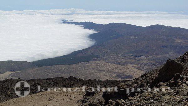 Teneriffa - Blick vom Aussichtspunkt auf dem Teide