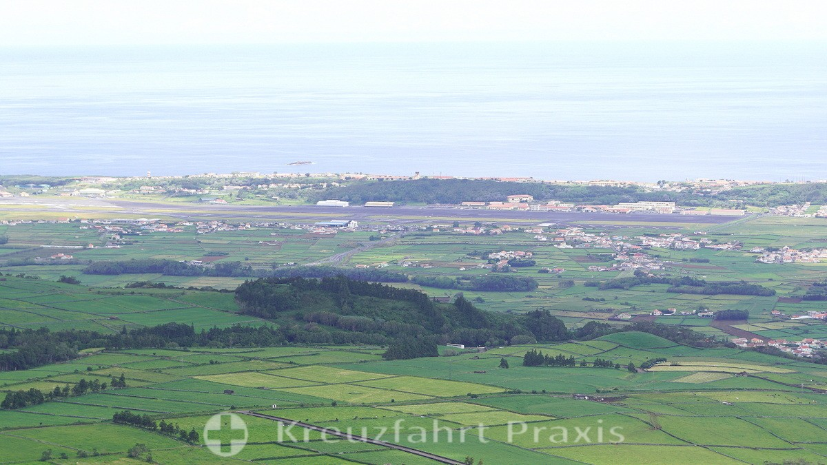 In the background Lajes Airport