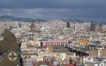 Barcelona Häusermeer mit Rambla
