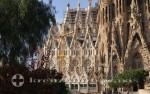 Sagrada Familia Ausschnitt Rückansicht