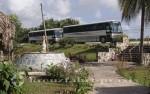 Belize - Die Busse warten
