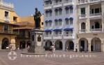 Cartagena - Plaza de los Coches und Heredia Denkmal
