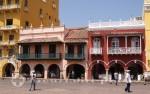 Cartagena - Laubengänge an der Plaza
