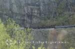 Flåm - Wendetunnel der Bahn