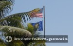 Key West - Die Flagge der Conch Republic unter der US-Flagge