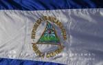 Puerto Corinto - Nicaraguas Flagge