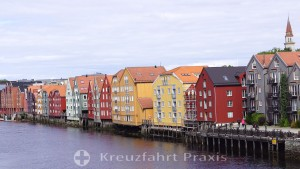 Trondheim - Buildings on the Nidelva River