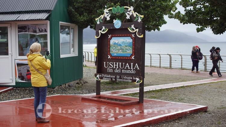 Ushuaias Einwohner grüßen die Besucher