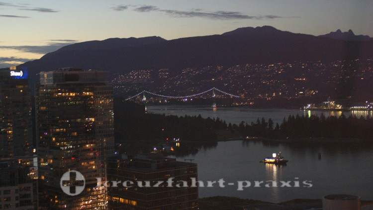 Vancouver in the evening