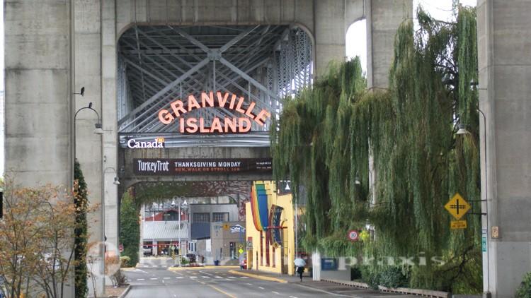 Zufahrt zu Granville Island