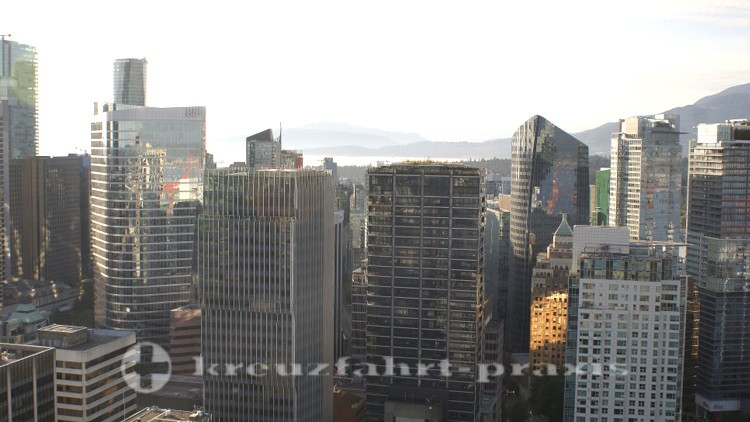 Der Financial District vom Vancouver Lookout gesehen