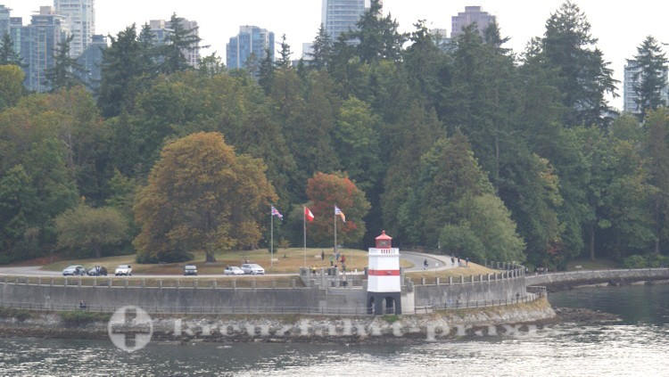 Stanley Park Seawall Path am Brockton Point Leuchtturm