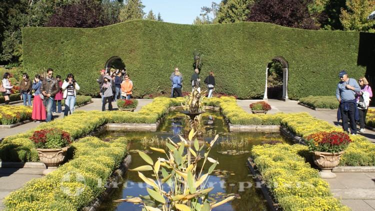 Gartenliebhaber in Butchart Gardens
