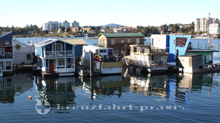 Die Floating Homes der Fisherman's Wharf