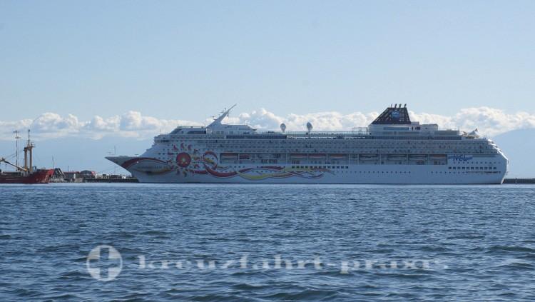 Kreuzfahrtschiff am Ogden Point