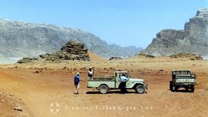 Pause in archaischer Landschaft